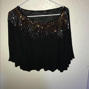XXI black shirts/gold